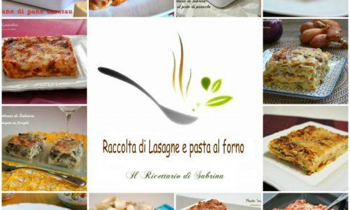Raccolta di lasagne e pasta al forno